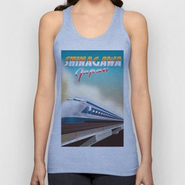 Shinagawa Japan travel poster Unisex Tank Top