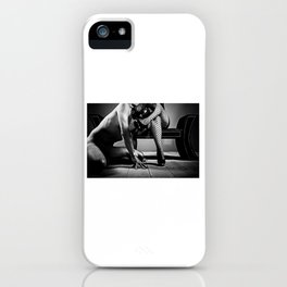 My Slave - Man naked on his knees in front of his mistress iPhone Case