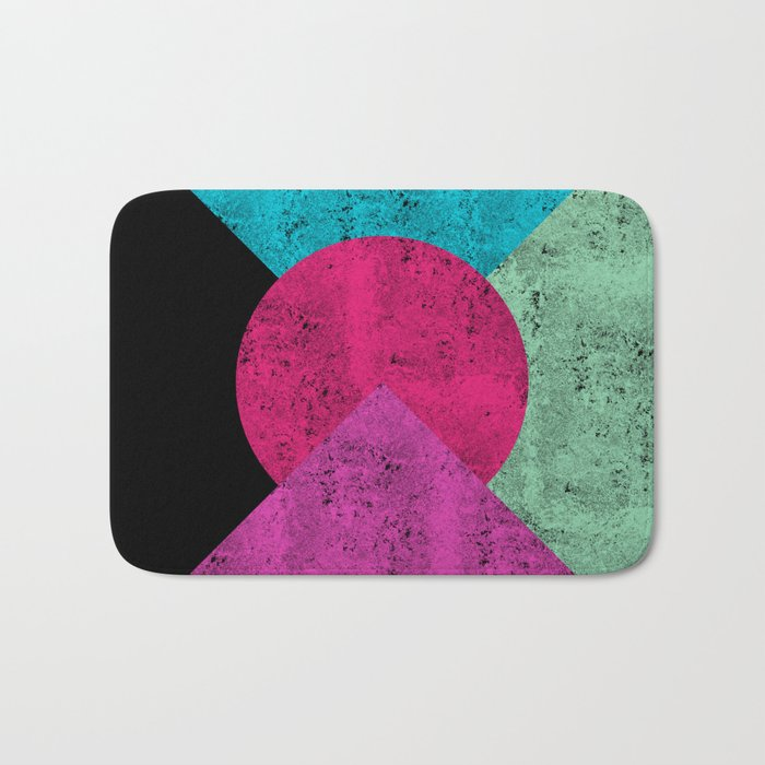 Colorful Abstract Geometric Background Bath Mat