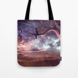 It made scars in the sky  Tote Bag