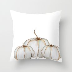 Pumpkin trio Throw Pillow