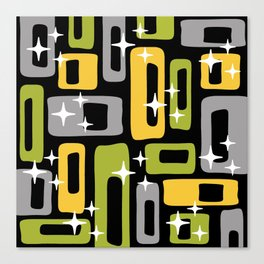 Retro Mid Century Modern Abstract Pattern 617 Canvas Print