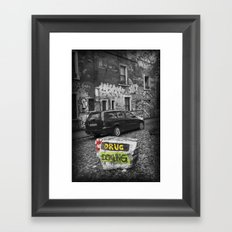 No drug dealing Framed Art Print