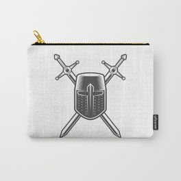 Helmet and Swords of a Medieval Knight Crusader Carry-All Pouch
