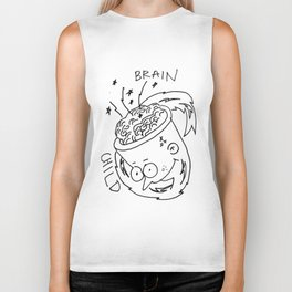 brain child with lightning and sparks Biker Tank