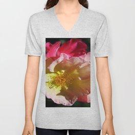 Prettyness Of A Rose Unisex V-Neck