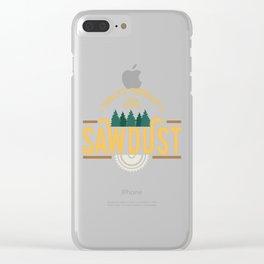 Mens Today`s Forecast 100% Chance Sawdust product | Woodworker Clear iPhone Case