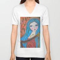 inspiration V-neck T-shirts featuring Inspiration by Dulcamara