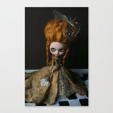 BAROQUE MARIE ANTOINETTE BLYTHE ART DOLL GOLD Canvas Print