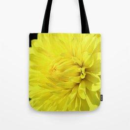 Glowing Yellow Dahlia Tote Bag