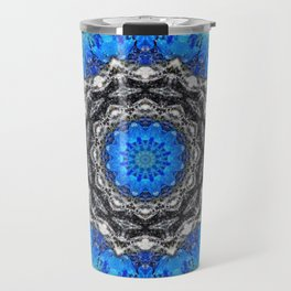 Ice Petals Mandala Travel Mug