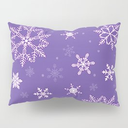 snowflakes on the blue Pillow Sham