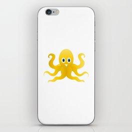 Fun yellow octopi iPhone Skin