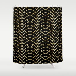 Art Deco Series - Black & Gold Shower Curtain