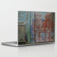 army Laptop & iPad Skins featuring Robot army by Ale Ibanez