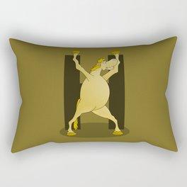 Pony Monogram Letter H Rectangular Pillow