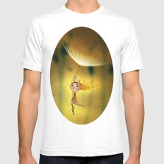 Flying MEDIUM Mens Fitted Tee White