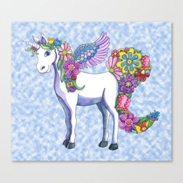 Madeline the Magic Unicorn 2 Canvas Print