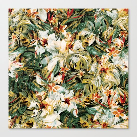 Seamless Floral Pattern Canvas Print