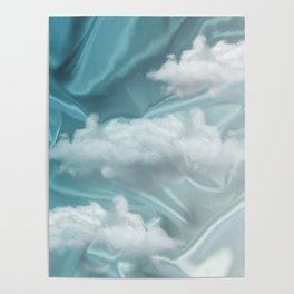 """""""Blue pastel sweet heaven and clouds"""" Poster"""
