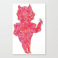 devil Canvas Prints featuring Devil by Guice Mann