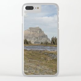 Mt Reynolds and Heavy Runner from Logan Pass Clear iPhone Case