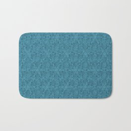 Moroccan Teal Arabesque Bath Mat