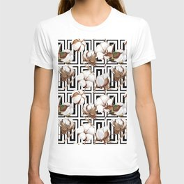 Cotton Flower Pattern 08 T-shirt