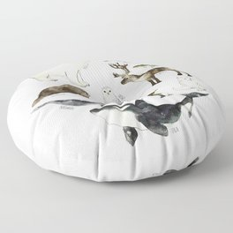 Arctic & Antarctic Animals Floor Pillow