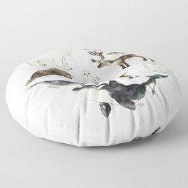 Arctic & Antarctic Animals Floor Pillow