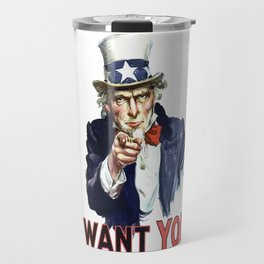 Uncle Sam I Want You Travel Mug