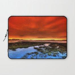 Sunset * Bolsa Chica Wetlands * Huntington Beach, California Laptop Sleeve