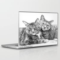 arya stark Laptop & iPad Skins featuring Arya and Dante portrait by Rushelle Kucala Art