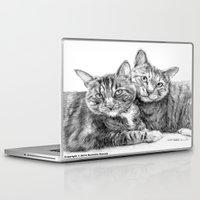 arya Laptop & iPad Skins featuring Arya and Dante portrait by Rushelle Kucala Art