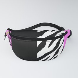 Animal Print, Zebra Stripes, Leopard Spots - Pink Fanny Pack