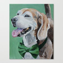Beagle in a Bow Tie Canvas Print