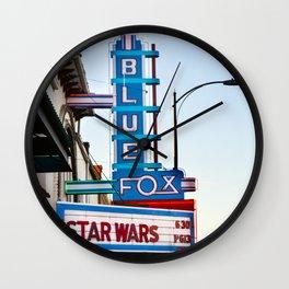 Blue Fox Movie Theatre Wall Clock
