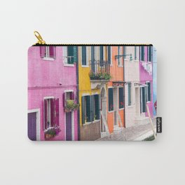Hot Pink Houses in Burano, Italy Carry-All Pouch