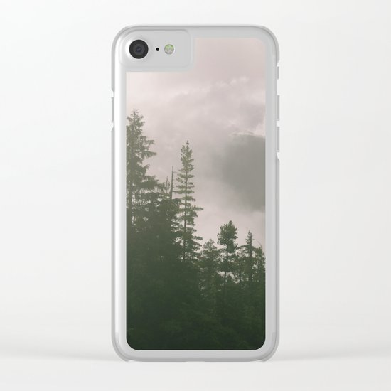 Foggy Forest (Squamish, British Columbia, Canada) Clear iPhone Case