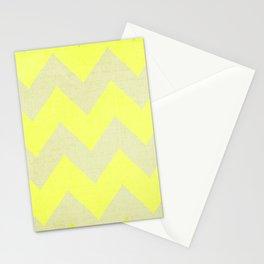 Jonquils & Daffodils - Yellow Chevron Stationery Cards