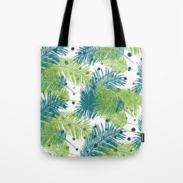 Ferns and Dots Tote Bag
