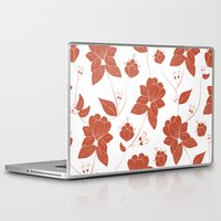 vintage floral Laptop & iPad Skins featuring Vintage Floral by She's That Wallflower