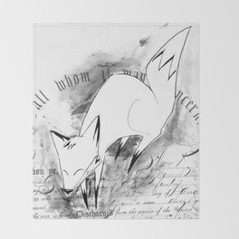 minima - deco fox Throw Blanket