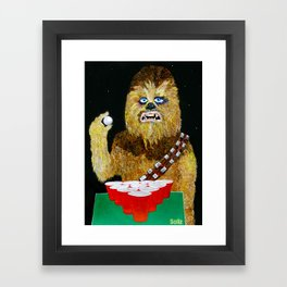 BEER PONG WOOKIE Framed Art Print