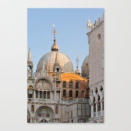 Early morning above the Saint Mark's Basilica. Architectural details. Canvas Print