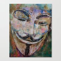 anonymous Canvas Prints featuring Anonymous by Michael Creese