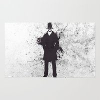 watchmen Area & Throw Rugs featuring WATCHMEN - RORSCHACH by Zorio