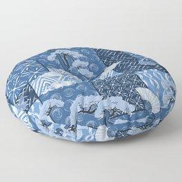 Shibori Quilt Floor Pillow
