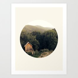 Tiny House In Forest Art Print