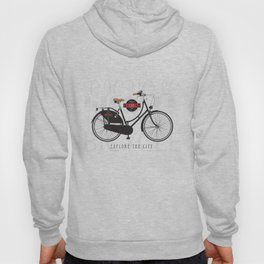 Classic bicycle company with an old city style bike Hoody